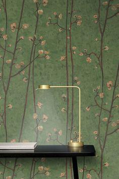 Van Gogh Wallpaper, Tile Wallpaper, Green Wallpaper, Vintage Flowers Wallpaper, Flower Wallpaper, Feng Shui Wood Element, Branches, Living Room Bedroom, Source Of Inspiration