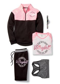 Score points with the volleyball lover on your list with made-to-match activewear and accessories. Cute Girl Outfits, Sporty Outfits, Athletic Outfits, Dance Outfits, Kids Outfits, Volleyball Outfits, Gymnastics Outfits, Volleyball Accessories, Tween Fashion