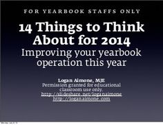 14 Things for Yearbooks Staffs in 2014