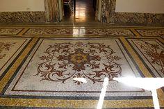Lucidatura Naturale dei pavimenti in Marmo e derivati (senza piombo) Accademia Ungheria - Roma