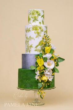 Spring floral wedding cake by Pamela Jane - http://cakesdecor.com/cakes/305186-spring-floral-wedding-cake