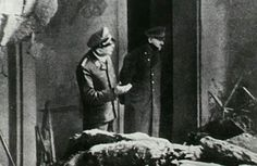 This is the last known photo of Hitler Shortly before committing suicide in his underground Führerbunker Hitler stepped outside with an SS officer to survey nearby bomb damage from Allied forces.