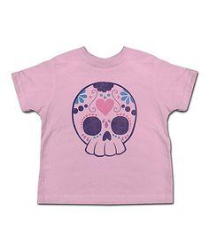 Another great find on #zulily! Pink Sugar Skull Tee - Toddler & Kids #zulilyfinds