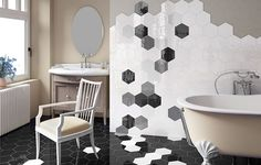 Wunderbar Perini Tiles  Hexagon Tiles   Beehive Fliesen, Badezimmer, Projekte,  Badezimmerboden, Badezimmer