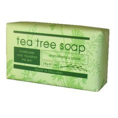 Tea Tree Soap Bar 200g by Christina May  http://www.incensearomatherapy.co.uk/collections/soap/products/tea-tree-soap-bar-200g-by-christina-may