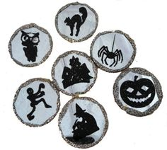 BETHANY LOWE Halloween Etched Ornaments