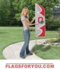 "Ohio State University Swooper Flag Kit 42"" x 13"""