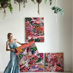 """(@aliciabeech.art.nz) All 4 of my pieces in the Bloom Exhibition at @jumbledonline have sold"""" Abstract Art, Bloom, The Originals, Artist, Artists"""