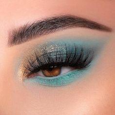 Makeup Eye Looks, Eye Makeup Art, Colorful Eye Makeup, Glam Makeup, Pretty Makeup, Makeup Inspo, Eyeshadow Makeup, Beauty Makeup, Makeup Ideas
