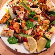Jamie Oliver: Chicken Tikka Salad with Lentils, Spinach & Nann