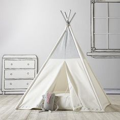 A Teepee to Call Your Own (Silver Metallic)    The Land of Nod