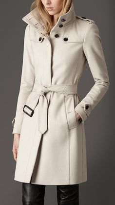 Virgin Wool Fitted Coat size 2 | Burberry. Great coat but show me more of the pants!