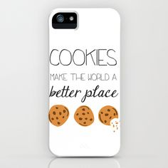 Cookies+Make+the+World+a+Better+Place+iPhone+&+iPod+Case+by+Cute+&+Co.+-+$35.00