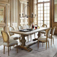 Mesa de comedor de madera ... - Lourmarin