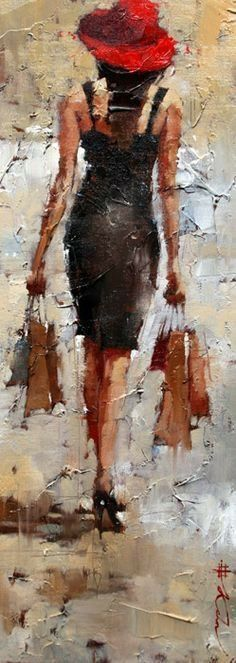 """Retail Therapy"" by Andre Kohn ♥ Art Des Gens, People Art, Figure Painting, Beautiful Paintings, Figurative Art, Painting Inspiration, Modern Art, Art Photography, Street Art"