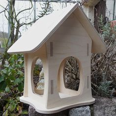 Birdhouse  Aviary  Bird feeder by emestec on Etsy, €17.95