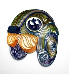 Quilled Star Wars artRebel Pilot Helmet by AliaDesign on Etsy, $200.00