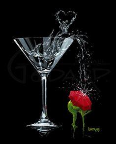"""Raining Romance"" by Michael Godard – Art Center Gallery Godard Art, Olive Uses, Thing 1, Red Umbrella, Wow Art, Weird Pictures, Art World, Glass Art, Original Paintings"