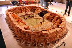Football parties! I could totally make this in about 8 hours...  #HomeBowlHeroContest