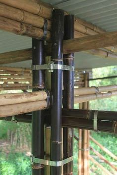 JOINERY, BAMBOO DETAIL CONSTRUCTION DETAIL #Architecture #Bamboostructure #Bambooconstruction