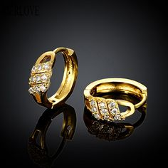 YIERLOVE new jewelry  gold plating earrings Fashion High Quality zircon earrings E049-A