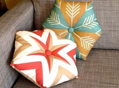 Kaleidoscope Pillows - from two fat quarters