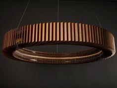 LED English oak pendant lamp KOTKA by Cameron Design House design Ian Cameron