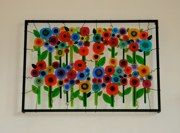 Private Commissionbr x 58 x 4 Glass Flowers, Art Auction, Fused Glass, Lisa, Kids Rugs, Wall, Fun, Ideas, Design