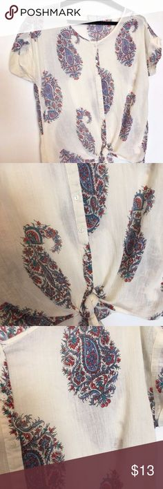 Peter Dunham For Lucky Brand size L blouse Gently used Small tear near collar please see photos  Bust 24 in  Length 26 in Lucky Brand Tops Blouses