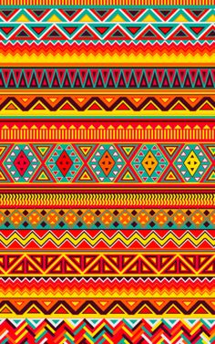 Aztec Pattern Art Print - inspiration to brighten a winter day! Graphic Design Pattern, Pattern Art, Aztec Pattern Wallpaper, Truck Art Pakistan, Mexican Pattern, Aztec Art, Art Africain, Tribal Patterns, Aztec Designs