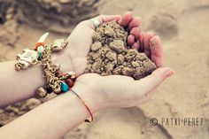 beach, heart, love, vintage