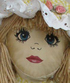 "Modern Rag Doll SEWING PATTERN 23"" doll - transfer face | eBay"