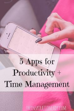 Smartphone apps are for more than just social networking and playing games! Here are 5 apps that can actually help you with productivity!