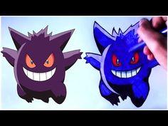 ZARTIEX: Pokemon Go - How To Draw Gengar | Speed Art Pokemo...