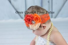 Check out this item in my Etsy shop https://www.etsy.com/listing/198930752/orange-lovers-shabby-flower-headband