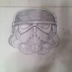 Storm trooper sketch for helmet series.