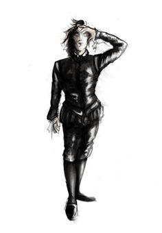 Hamlet (Hamlet). Costume design by Fabio Toblini.