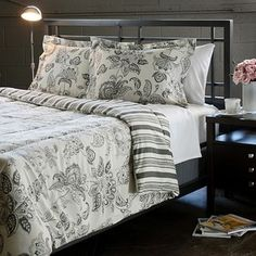 @Overstock.com - Cordoba Grey Full/ Queen-size 3-piece Comforter Set - This microfiber comforter set features a rich grey color with white accents in a traditional Jacobean pattern. The comforter reverses to a striped design.  http://www.overstock.com/Bedding-Bath/Cordoba-Grey-Full-Queen-size-3-piece-Comforter-Set/6081798/product.html?CID=214117 $48.99