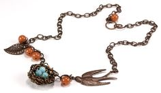 Jewelry Making Idea: Wire Bird Nest Necklace with How-To Pictures