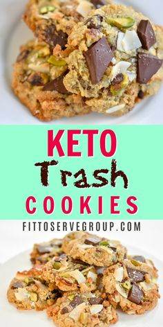 Keto Trash Cookies-These trash cookies have a classic salty to sweet combo. The perfect low carb cookie treat. Keto Trash Cookies-These trash cookies have a classic salty to sweet combo. The perfect low carb cookie treat. Diet Plan Menu, Keto Meal Plan, Diet Meal Plans, Keto Cookies, Cookies Et Biscuits, Desserts Keto, Keto Snacks, Dessert Recipes, Breakfast Recipes