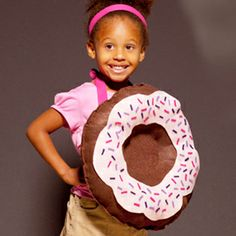 It's no trick. This sweet donut costume doesn't need any sewing.