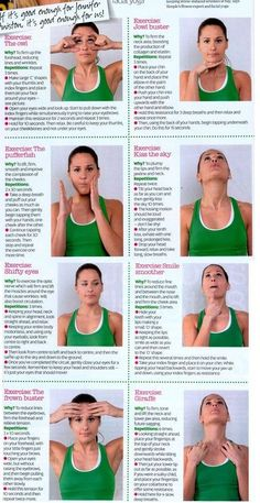 Yoga Exercises For Slimming Your Face Facial Yoga. This is perfect forum bf who thinks he's not flexible enough for yoga :):Facial Yoga. This is perfect forum bf who thinks he's not flexible enough for yoga :): Yoga Facial, Massage Facial, Face Facial, Facial Tips, Face Gym, Fitness Del Yoga, Health Fitness, Fitness Classes, Fitness Routines