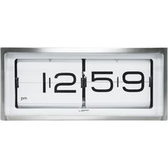 Leff Amsterdam Brick Clock ($545) ❤ liked on Polyvore featuring home, home decor, clocks, battery operated clock, flip clock, metal home decor, battery clock and battery powered clock