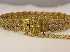 15K Gold Exquisite Etruscan Revival Bracelet