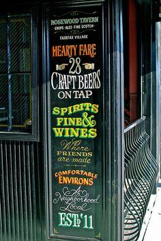 Rosewood Tavern Door Sign