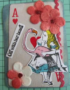 Magda's ATC for the Jan 2013 Crafty Girls Challenge - Colour Your World - A pop of colour