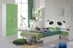 Perfect Tween Girls Bedroom Ideas for Your Kids: Unique Panda Bunk Modern Teen Girls Bedroom Ideas Learning Desk ~ mybutteryfly.com Bedroom Inspiration