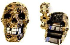 Leopard, rhinestone, skull TELEPHONE!