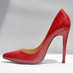 "Gender:Women Item Type:Pumps Toe Style:Closed Toe Shoe Width:Medium(B,M) Season:Spring/Autumn Upper Material:Leather,Alligator Heel Height:High (3"" and up) Decorations:Plain Outsole Material:Rubber Lining Material:PU Occasion:Party Pump Type:Basic Heel Type:Thin Heels Brand:LOSLANDIF..."