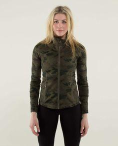 019a72fabb Lululemon Forme Jacket II Color  Fatigue Savasana Camo Size 2 Spring 2014   108 USD Lululemon
